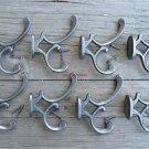 Set of 8 antique style cast iron Addison coat hook double coathooks c/w screws