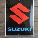 Heavy quality porcelain advertising sign Suzuki garage plaque black