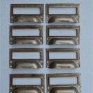 SET OF 10 STEEL FILING CABINET LABEL HANDLES FILE DRAWER HANDLE FURNITURE FD1