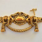 Regency brass rope swag drawer handle draw pull desk chest cabinet 2020