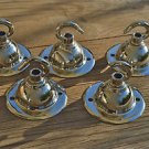 SET OF 5 ANTIQUE STYLE CHROME LIGHT ROSE HOOK CEILING HOOK CHADELIER HANGER NR7