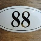 ANTIQUE STYLE ENAMEL DOOR NUMBER 88 HOUSE NUMBER DOOR SIGN PLAQUE