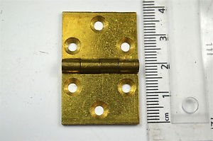 A small square brass vintage Pembroke table flap hinge card table hinge P29