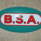 VINTAGE STYLE ENAMEL METAL B.S.A. SIGN MOTOR BIKE WALL PLAQUE BADGE OVAL