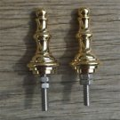 Pair of superb quality antique brass furniture clock finial vase shape finial Z8