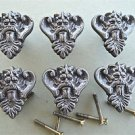 SET OF 6 ANTIQUE STYLE KING HEAD IRON FURNITURE KNOB DRAWER DOOR HANDLE WH44