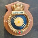 DECORATIVE COAT OF ARMS ARMORIAL PLAQUE HMCS MARGAREE CANADIAN NAVY SHIP