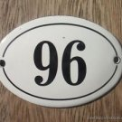 SMALL ANTIQUE STYLE ENAMEL DOOR NUMBER 96 SIGN PLAQUE HOUSE NUMBER FURNITURESIGN