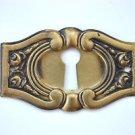 Original antique pressed brass escutcheon plate keyhole box furniture KP9