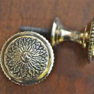 Pair of Regency screw in brass furniture drawer door knob handle 1 1/2 inch 2015