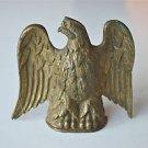 Beautiful original antique Regency brass eagle finial clock mount furniture G11