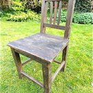 LOVELY ANTIQUE SHABBY CHIC FOLK ART HANDMADE WOODEN CHILDS CHAIR RUSTIC CHAIR C2