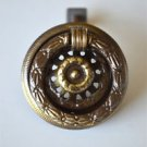 A good quality antique style brass ring pull furniture handle drawer pull MK5