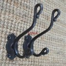 A pair of cast iron shepherds crook coathook wall door hanger coat hook AL41