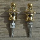 Pair of superb quality antique brass furniture clock finial rope edge finial Z11