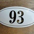 ANTIQUE STYLE ENAMEL DOOR NUMBER 93 HOUSE NUMBER DOOR SIGN PLAQUE