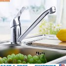 Chrome Wash Handle Brass Faucet Kitchen Bathroom Hot Cold Mixer Water Two Hole