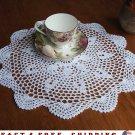 14.57''Round Pure Cotton White Yarn Hand Crochet Lace Doily Retro Ornamental Mat