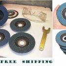 "4.5""Flap Hard Sanding Disc 40 60 80 120 Grit Angle Grinder Zirconium Oxide Wheel"