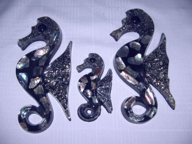 Wonder Mold Seahorse wall plaques vintage