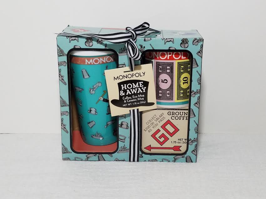 Monopoly Coffee Eco and Ceramic Mug Gift Set