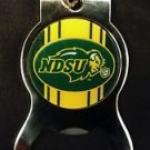 NDSU BISON FOOTBALL Bottle Opener Keychain NEW!