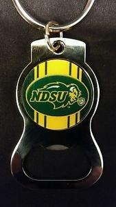 NDSU BISON FOOTBALL Bottle Opener Keychain NEW!