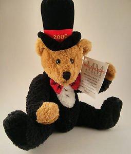 NWT Mary Meyer Marcus Milestone Millennium Plush Teddy Bear Ltd Ed 2000 Jointed