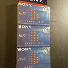 Sony HI-FI 60 Minutes TYPE 1 Normal Bias AUDIO CASSETTES Lot of 3, Sealed