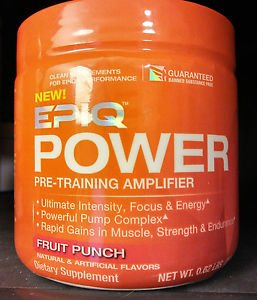 EPIQ Power Pre-Training Amplifier 40 Servings - Fruit Punch [Best Used by 6/16]
