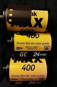 KODAK Max Versatility 400 Film 24 Exposures 3 Rolls-As Is