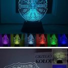 Millenium falcon 3d Lamp   7 color changing visual illusion LED lamp