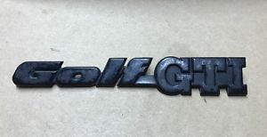 Genuine Oem VW Mk2 European GOLF GTI Rear Emblem/Badge SHIPS FAST!