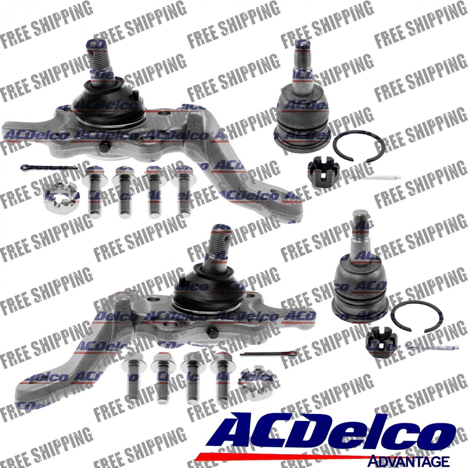 1996 to 2002 Toyota 4Runner-Sequoia-Tundra Front Suspension Ball Joints Set Kit