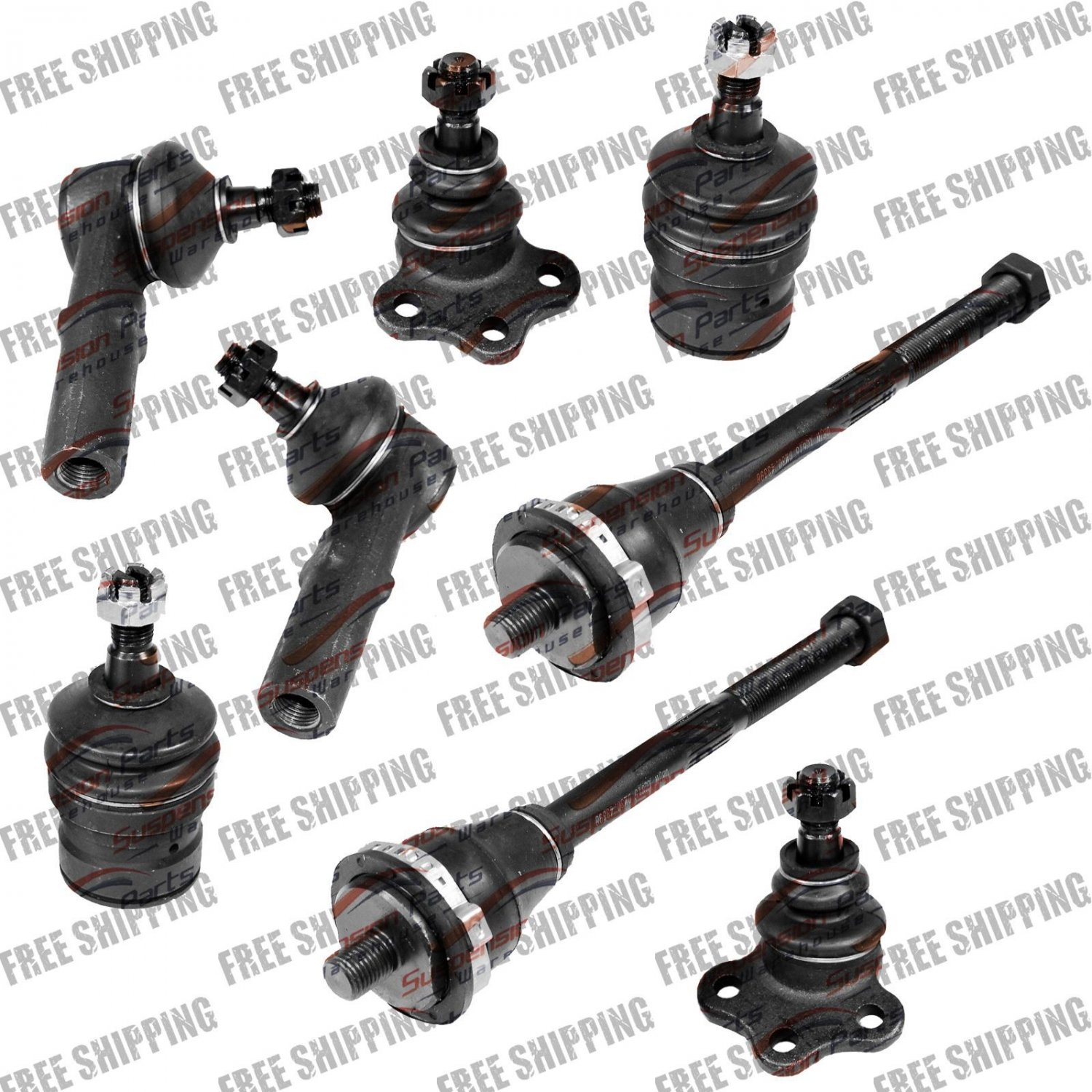 New Steering Front Set Tie Rod & Ball Joint For Dakota 97-99 Durango 98-99 4wd