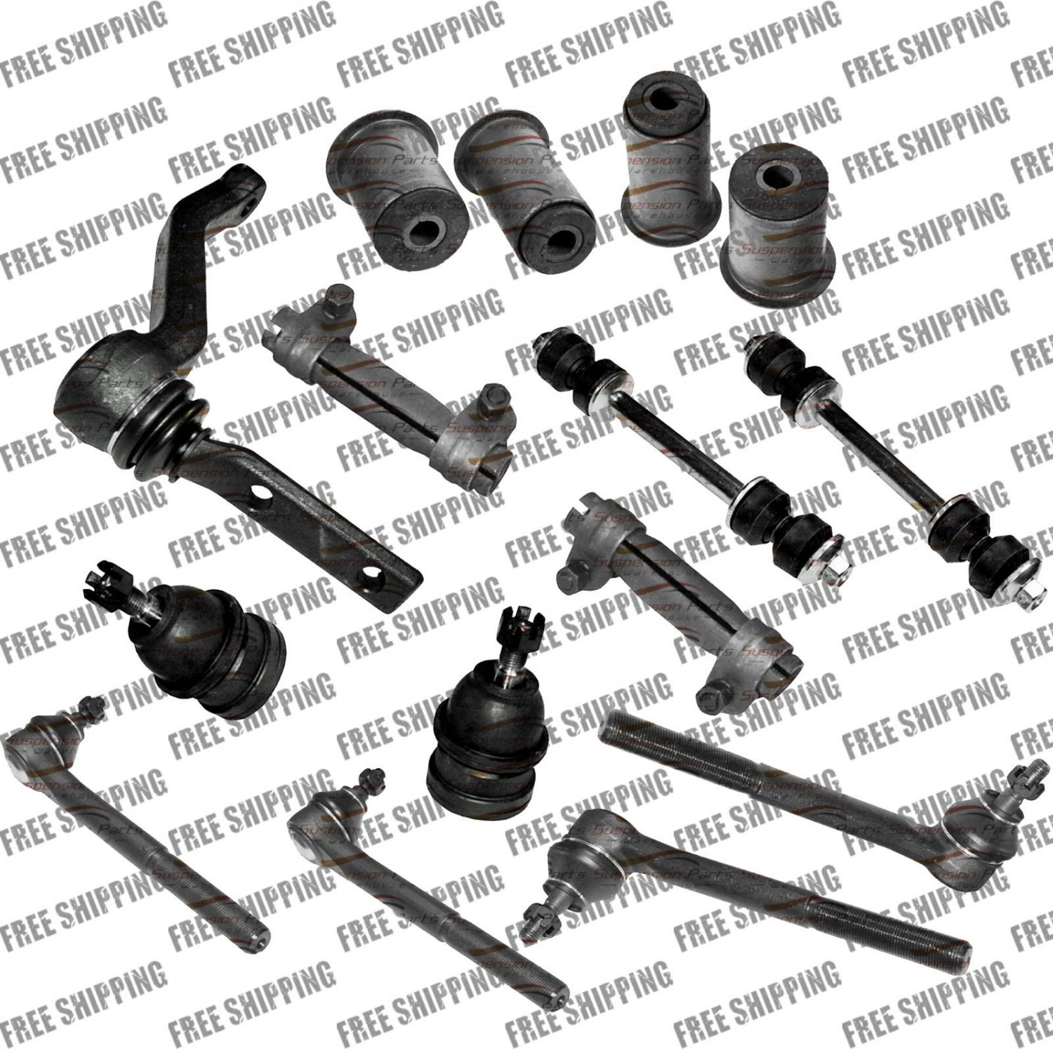 Arm Bushing Kit Front Lower Ball Joint Tie Rod End For Chevy Monte Carlo, Malibu