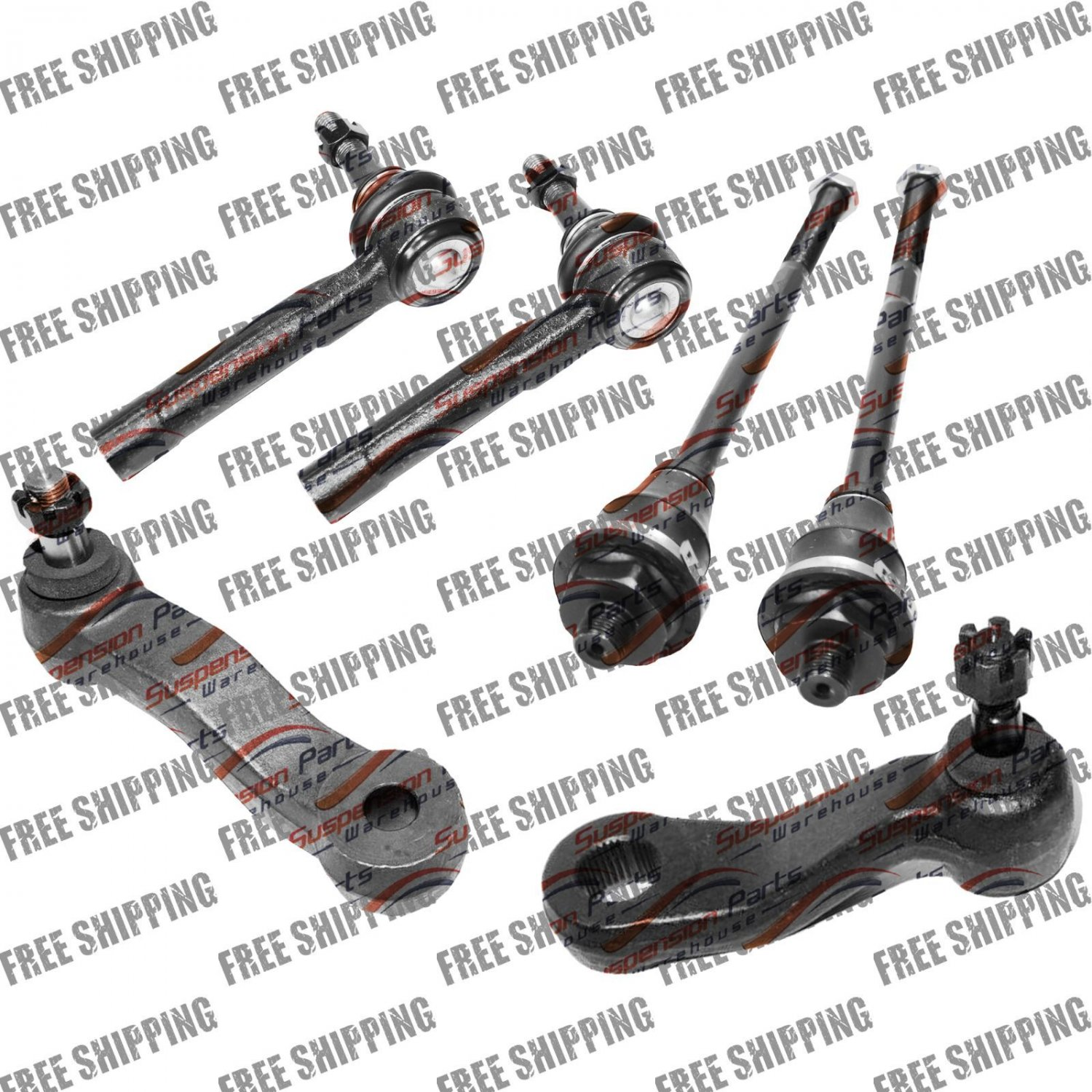 Steering Kit Tie Rods Pitman with 3 Splines For Silverado Sierra YUKON H2