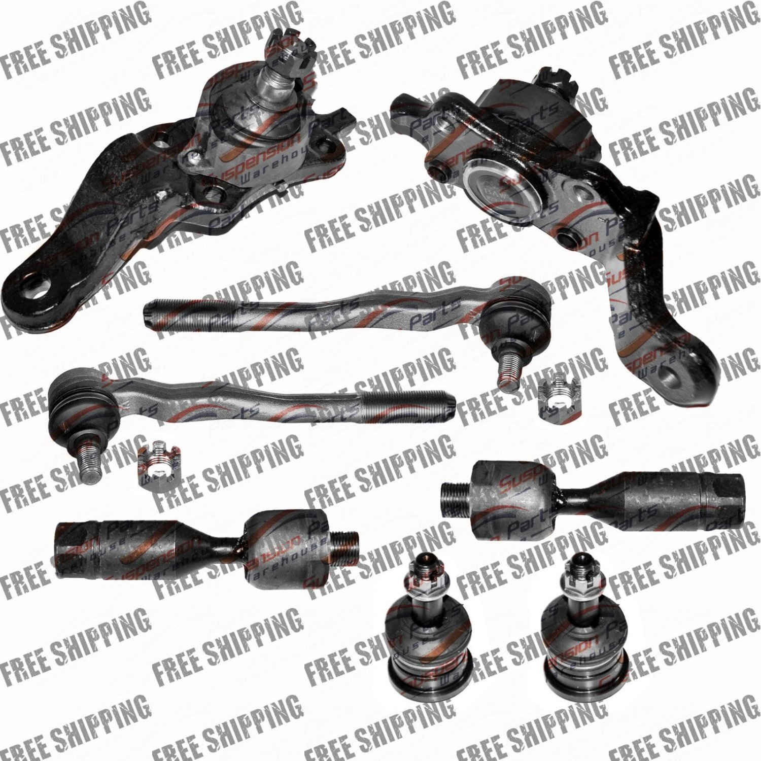 New Suspension Ball Joint Front Lower Upper Tie Rod End fits 95-04 Toyota Tacoma