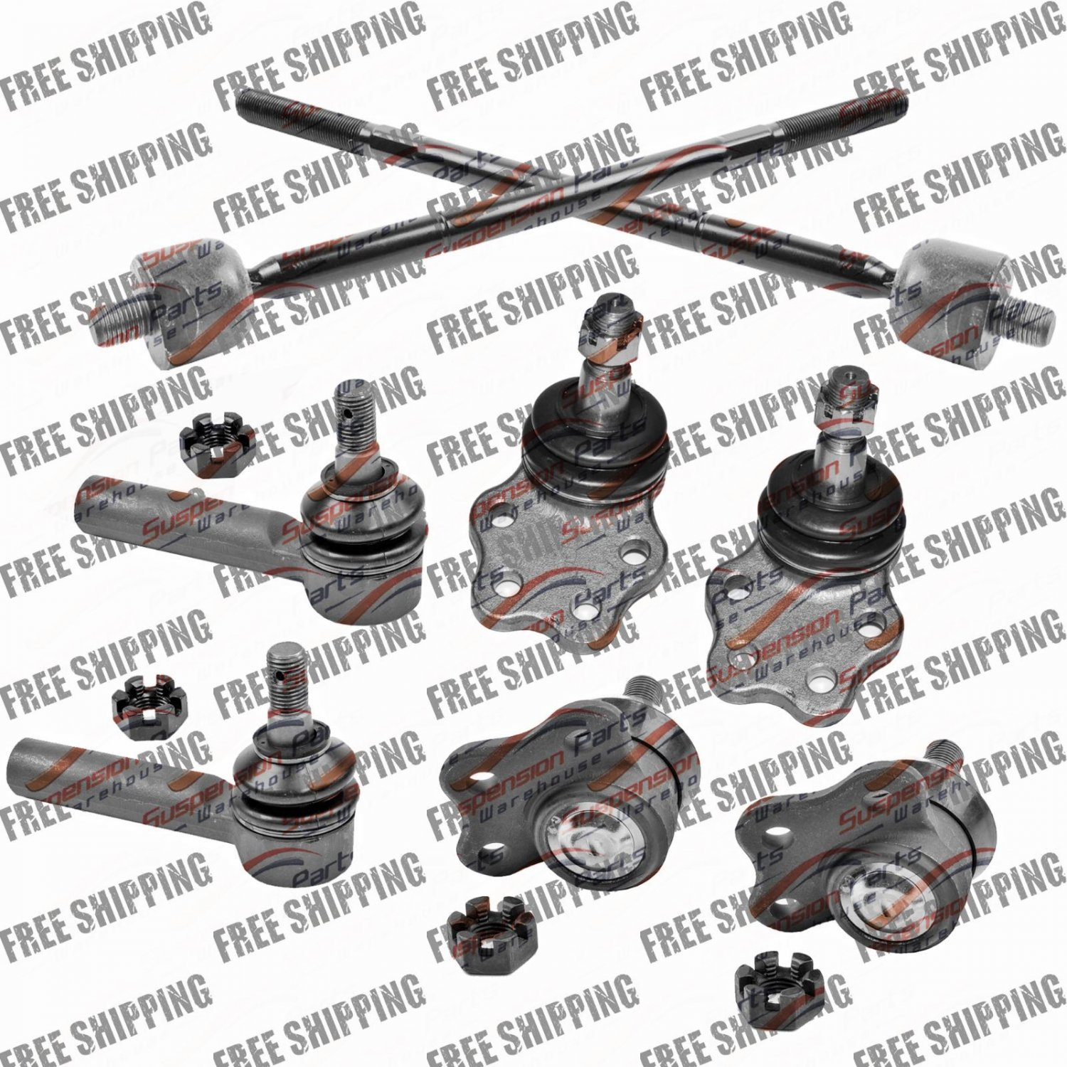 New Steering Kit Front End Tie Rod End Ball Joints For 2WD Dodge Dakota 99-97