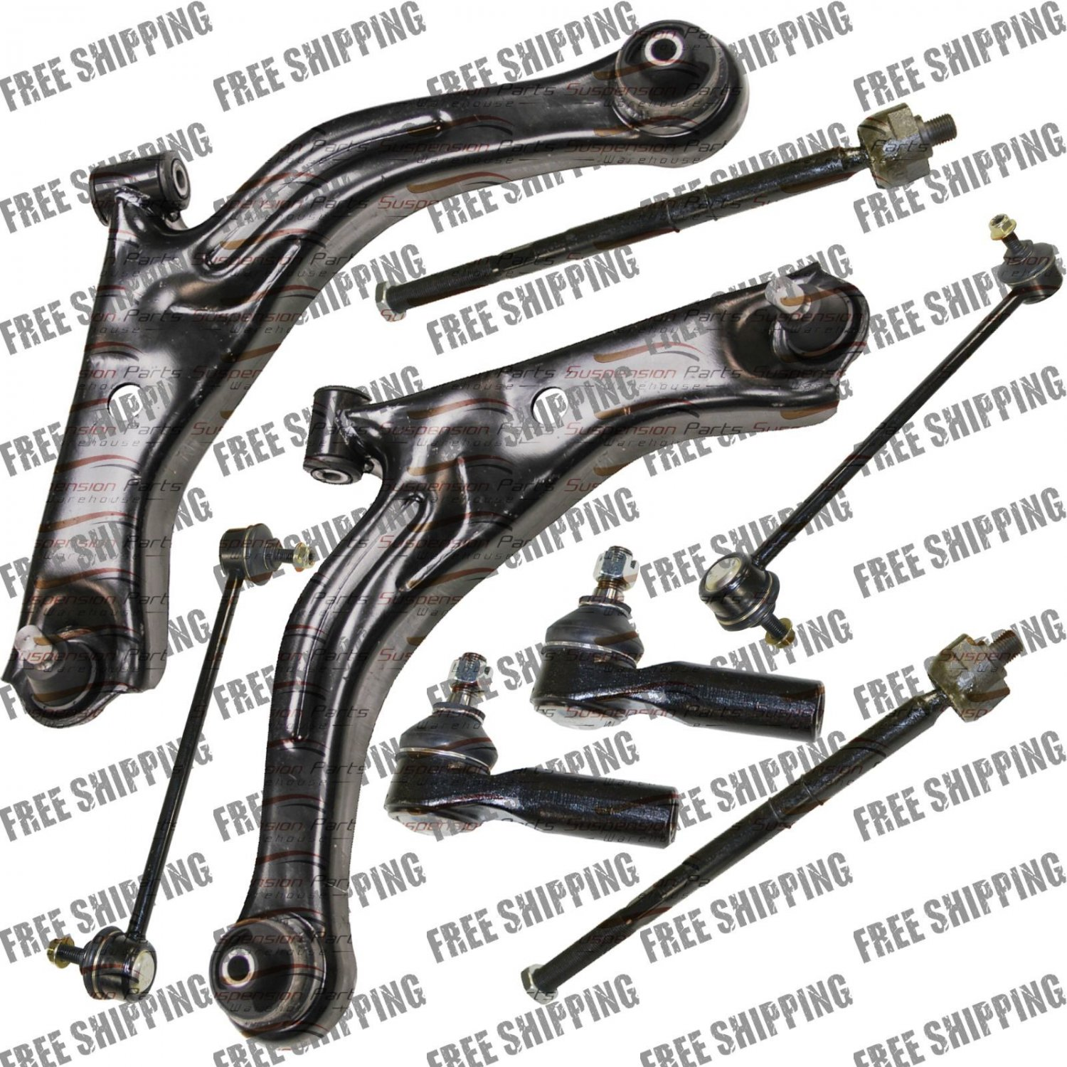 Front Suspension Kit Lower Control Arm Sway Bar Link Tie Rods For Ford Escape