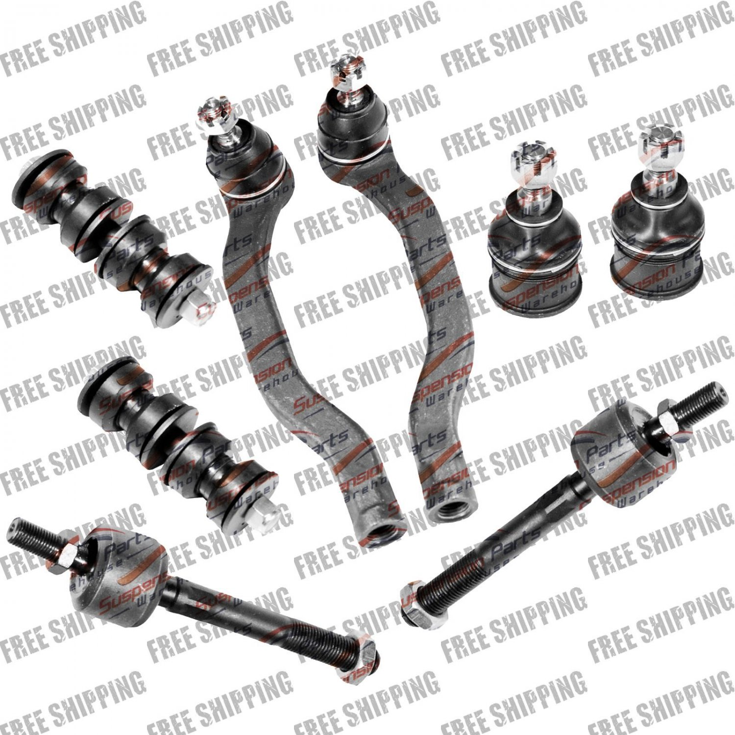 For Honda Accord 90-93 Front New Steering Rebuil Kit Tie Rod Ball Joint Sway Bar