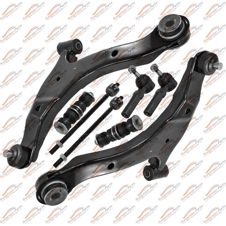 01-10 Chrysler PT Cruiser Front Control Arm Set Pair Tie Rod Stabilizer Link
