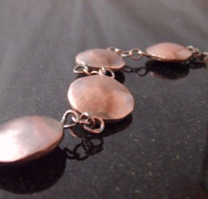 copper nugget bracelet