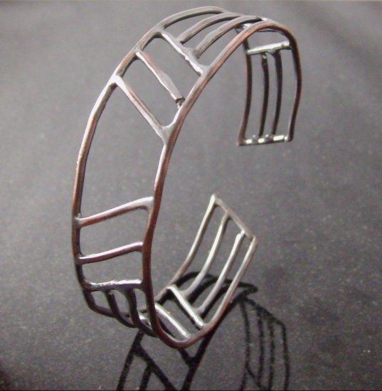 men's copper skyscraper cuff