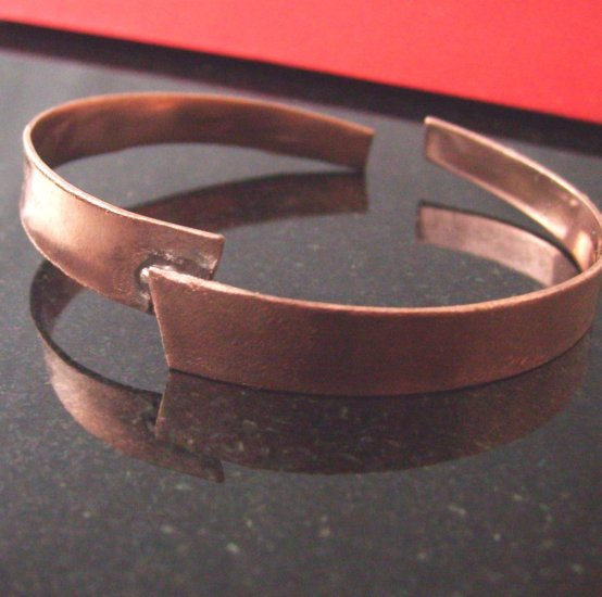 Off Center Copper Cuff