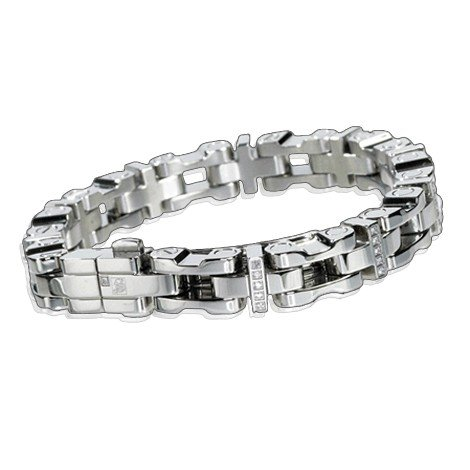 SIMMONS MEN'S 8.75mm Diamond Bracelet 1.0ctw
