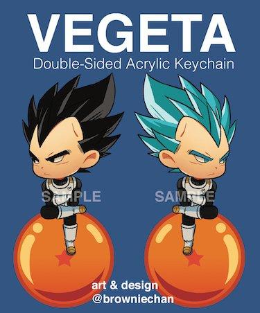 Dragon Ball Z Super Vegeta Acrylic Keychain