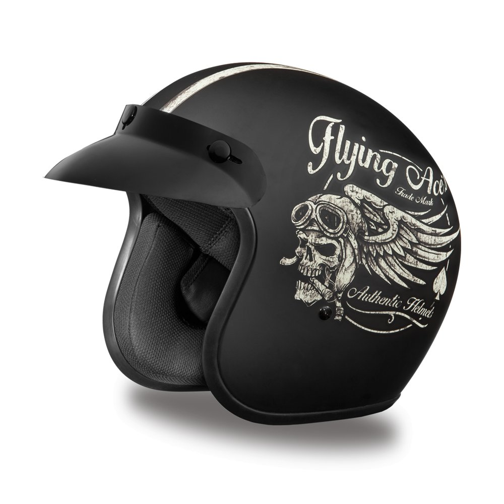 Daytona Helmets CRUISER- W/ FLYING ACE'S DOT Motorcycle Helmet All sizes DC6-FAC