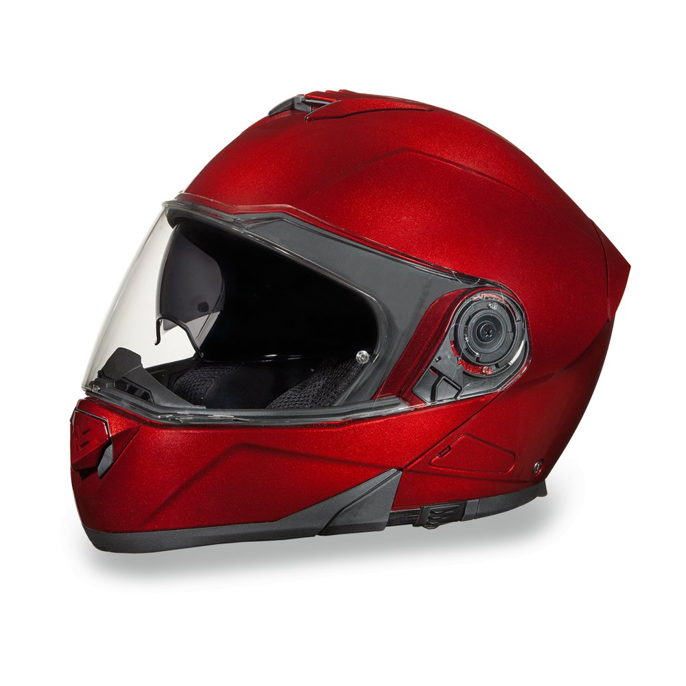 New Daytona GLIDE- BLACK CHERRY METALLIC DOT Motorcycle Helmet All sizess MG1-BC