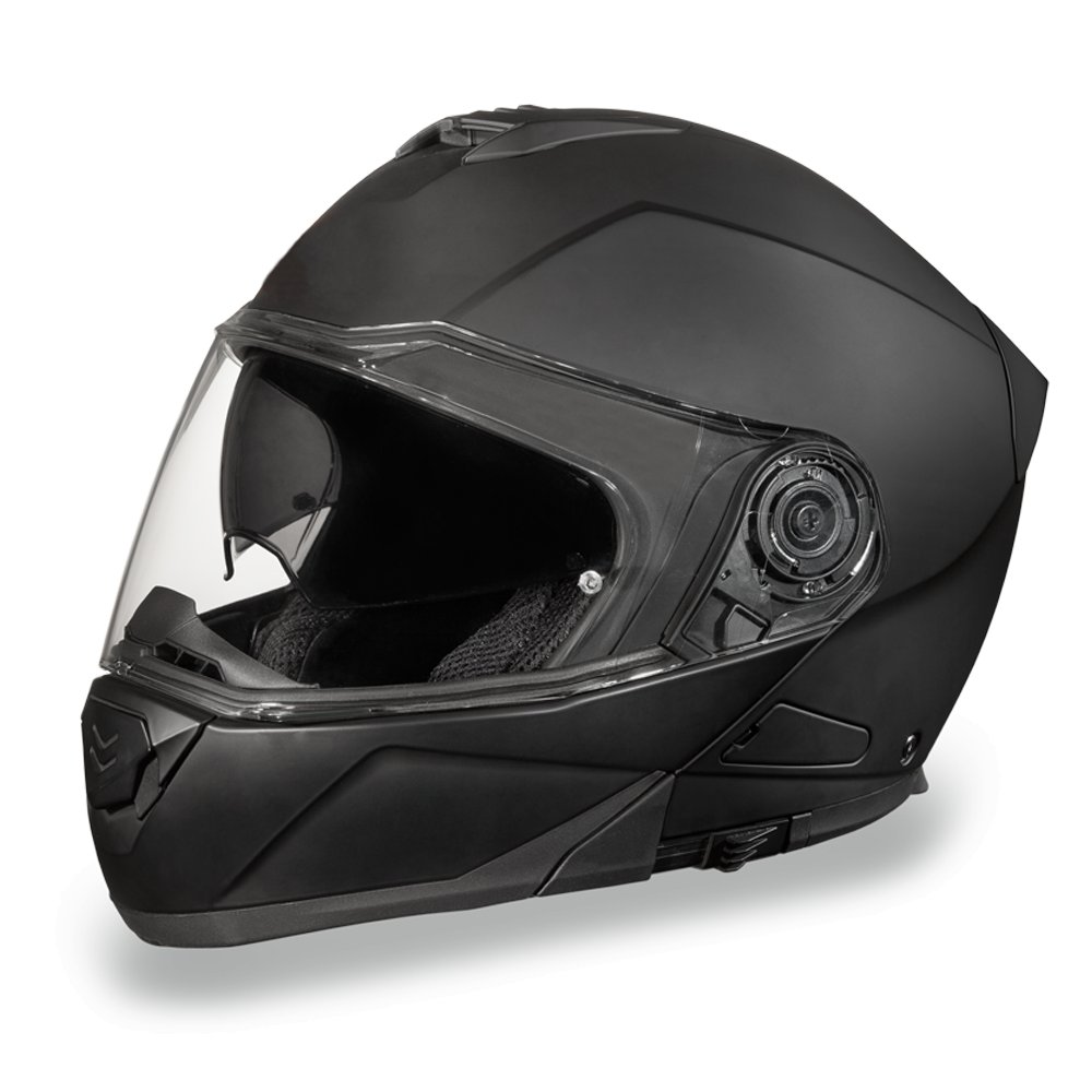 Daytona Helmets Glide DOT Dull Black Modular Flip-Up Motorcycle Helmet MG1-B